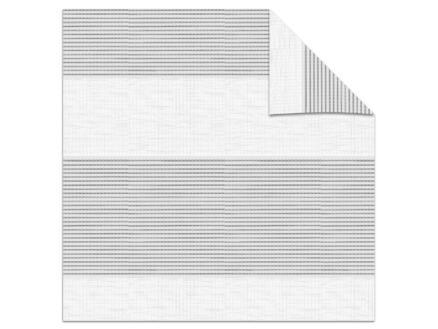 Decosol store enrouleur vénitien tamisant 52x160 cm structure blanc-gris