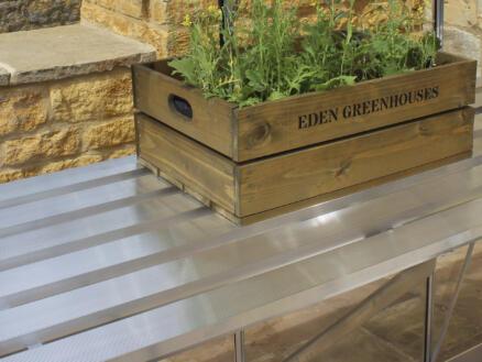 Eden table de culture serre Burford 66 gris