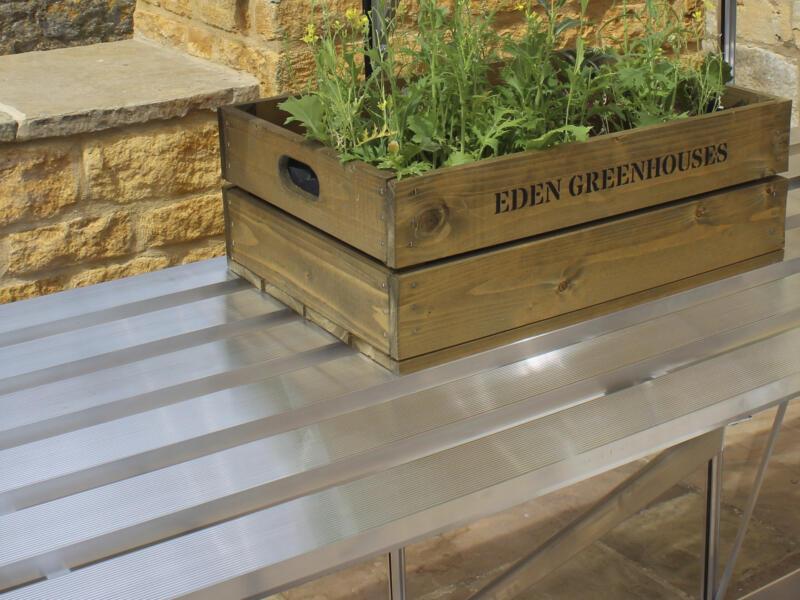 Eden table de culture serre Burford 86 gris