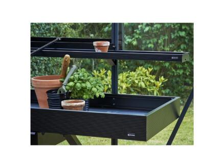 Juliana table de culture serre avec tiroir 141x52x10 cm noir