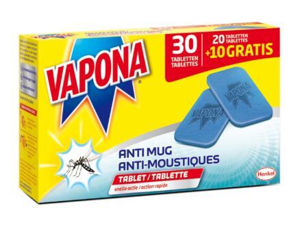 Vapona tabletten anti-mug 20+10 stuks
