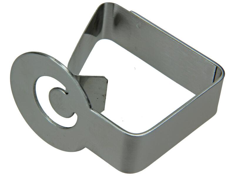 Sam tafelklemmen deco 62x52 mm inox 2 stuks