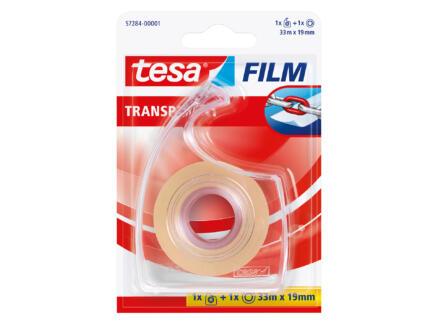 Tesa tape met dispenser 33m x 19mm transparant