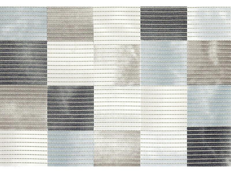 Finesse tapis de bain 80x50 cm bleu et gris