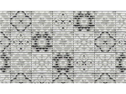 Finesse tapis de bain 80x50 cm tile antique noir
