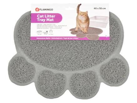 Flamingo tapis de litière 40x30 cm gris anthracite