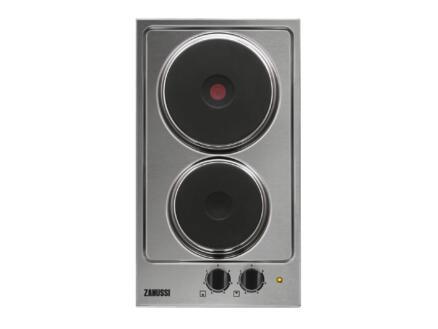Zanussi taque électrique 29cm 2 foyers inox