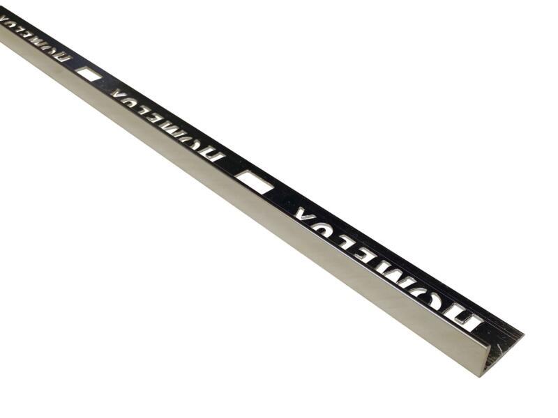 Homelux tegelprofiel recht 8mm 270cm aluminium chroom