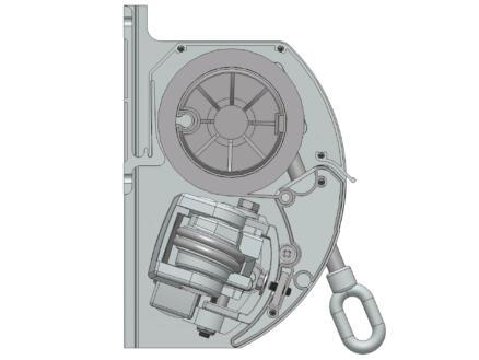 Domasol tente solaire électrique F10 400x250 cm fines rayures vert-blanc et armature blanc crème