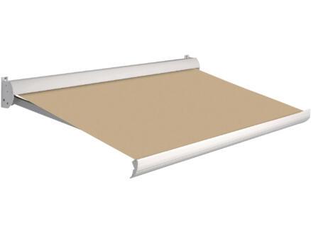 Domasol tente solaire électrique F10 550x250 cm beige et armature blanc crème