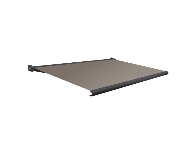 Domasol tente solaire électrique F20 450x300 cm + télécommande brun clair et armature gris anthracite
