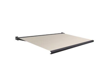 Domasol tente solaire électrique F20 450x300 cm rayures brun-blanc et armature gris anthracite