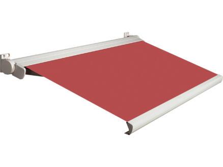Domasol tente solaire électrique F20 500x250 cm + télécommande rouge et armature blanc crème