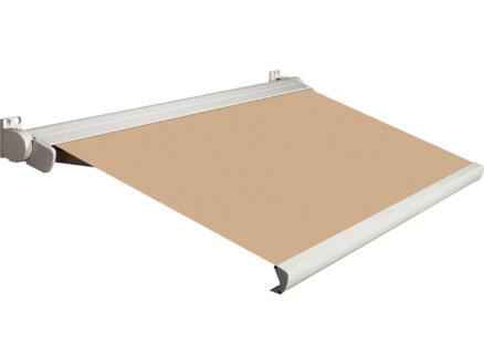 Domasol tente solaire électrique F20 500x300 cm + télécommande beige et armature blanc crème