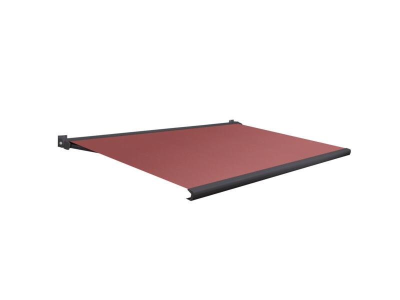 Domasol tente solaire électrique F20 500x300 cm + télécommande rouge foncé et armature gris anthracite