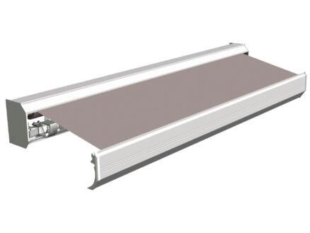Domasol tente solaire électrique F30 500x300 cm gris et armature blanc crème