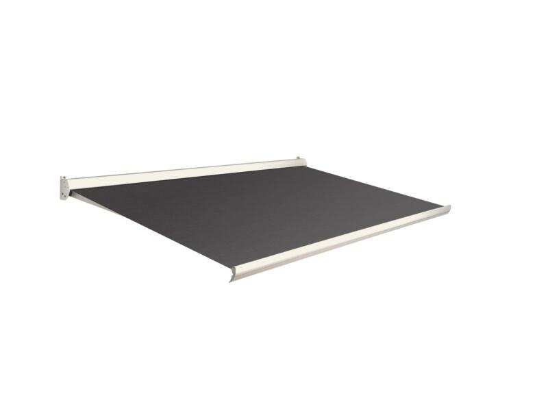 Domasol tente solaire manuel F10 350x300 cm brun foncé et armature blanc crème