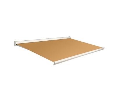 Domasol tente solaire manuel F10 350x300 cm orange et armature blanc crème