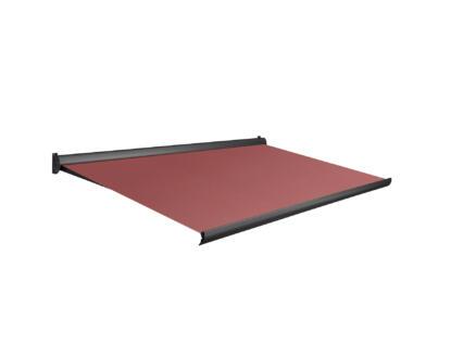 Domasol tente solaire manuel F10 350x300 cm rouge foncé et armature gris anthracite