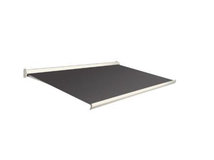 Domasol tente solaire manuel F10 450x300 cm brun foncé et armature blanc crème