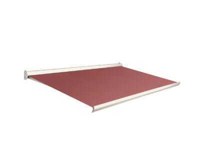 Domasol tente solaire manuel F10 500x300 cm rouge foncé et armature blanc crème