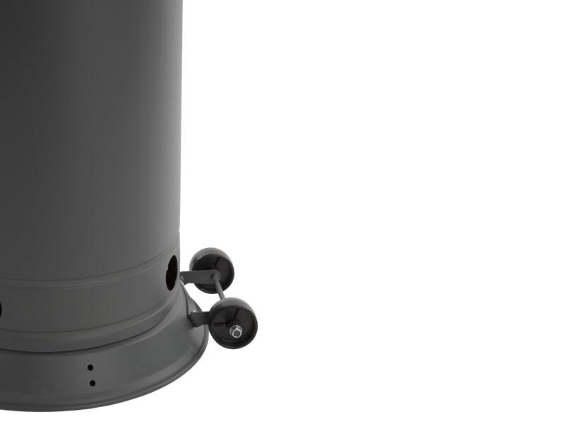 Practo Garden terrasverwarmer op gas met wielen donkergrijs
