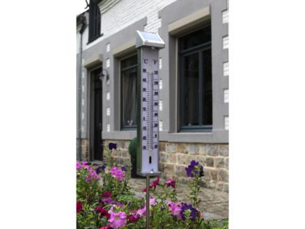 Ubbink thermomètre extérieur solaire  80cm aluminium