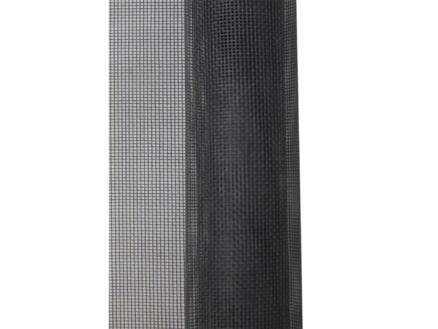 Stopinsect toile moustiquaire de fenêtre 80x125 cm gris