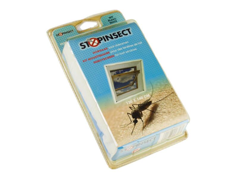 Stopinsect toile moustiquaire pour fenêtre de toit 120x140 cm noir