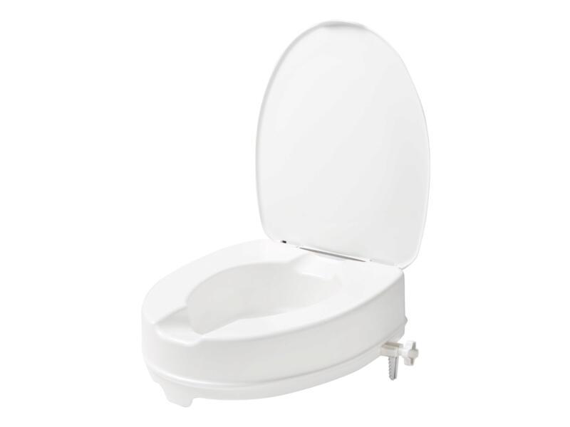 Secucare toiletverhoger met klep 100mm wit
