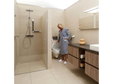 Secucare toiletverhoger met klep 600mm wit