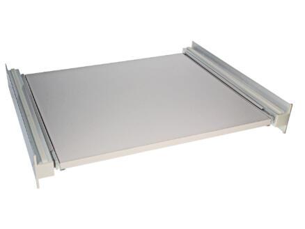 toise et tiroir 60x60x15 cm aluminium