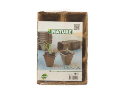 Nature turfpot 5x5 cm 6x12 stuks