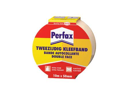 Perfax tweezijdige kleefband 10m x 50mm beige