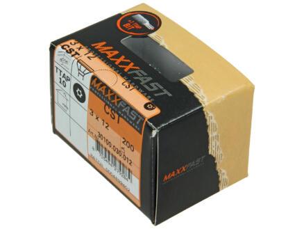 Maxxfast universele houtschroeven CST 3x12 mm verzinkt 200 stuks