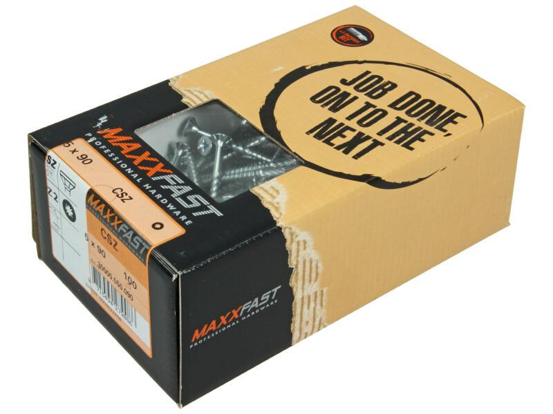 Maxxfast universele houtschroeven CSZ 5x90 mm verzinkt 100 stuks