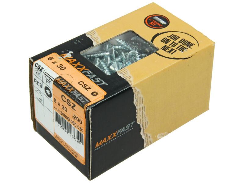 Maxxfast universele houtschroeven CSZ 6x30 mm verzinkt 200 stuks