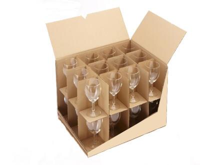 Mottez vakverdeling voor verhuisdoos 12-24 glazen