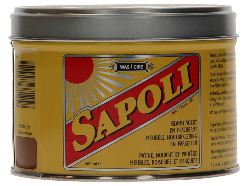 Sapoli vaste boenwas 450ml midden eik