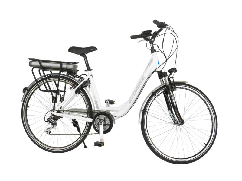 Evobike vélo électrique femme moteur central blanc