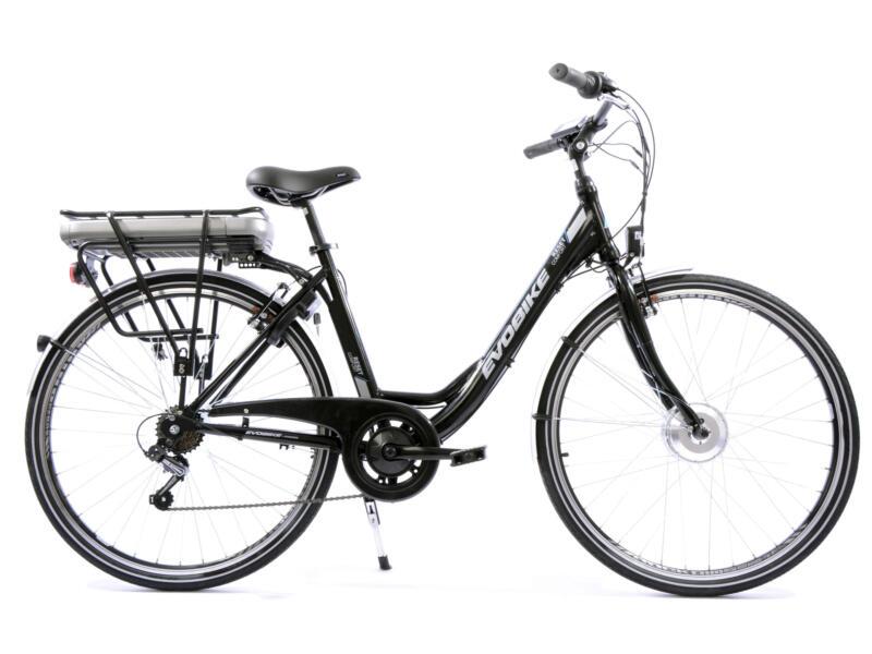 Evobike vélo électrique femme moteur roue avant noir