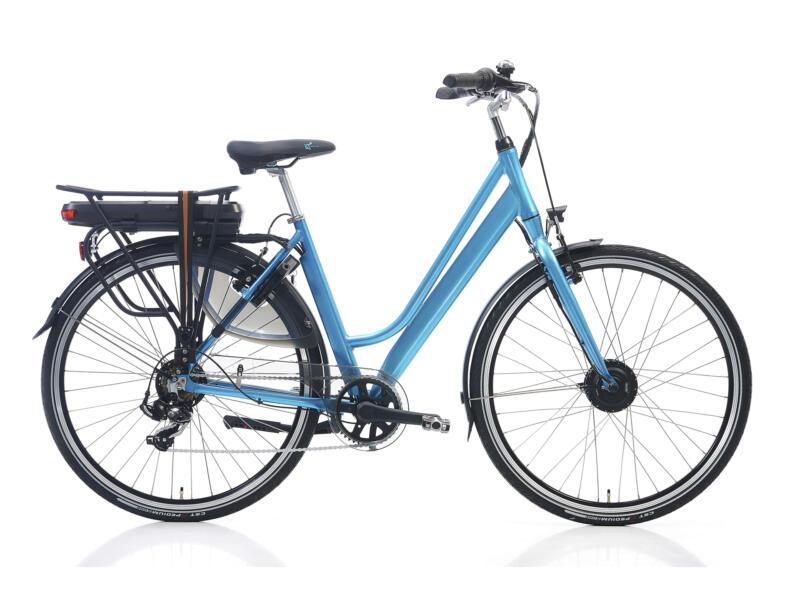 vélo électrique femme moteur roue avant taille 51 azure