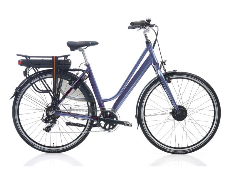 vélo électrique femme moteur roue avant taille 54 gris