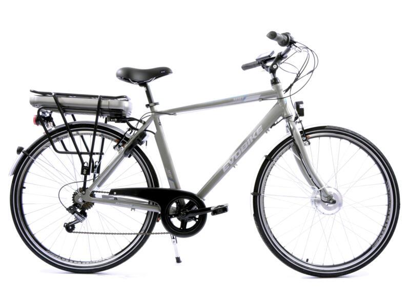 Evobike vélo électrique homme moteur roue avant gris