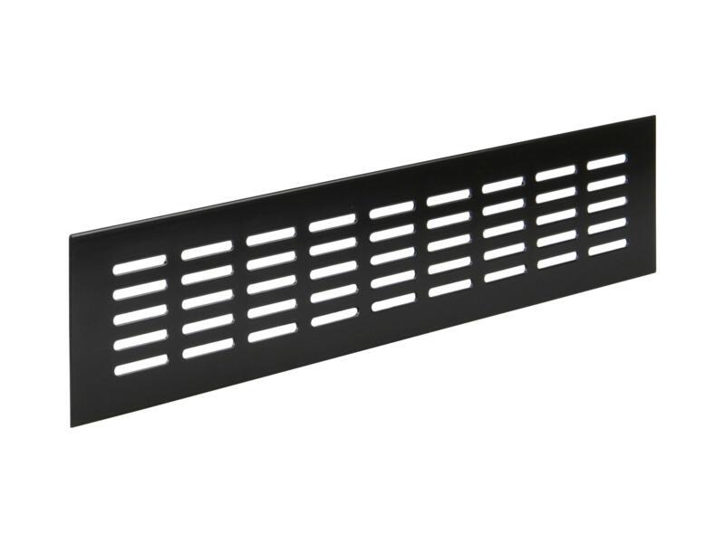 Renson ventilatiestrip 400x80 mm aluminium zwartbruin