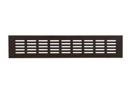 Renson ventilatiestrip 500x80 mm aluminium zwart