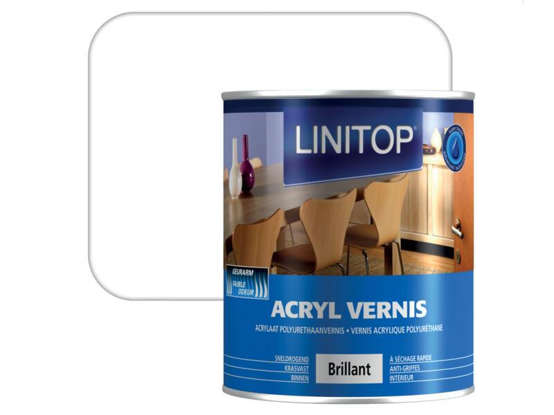 Linitop vernis acryl hoogglans 0,75l kleurloos