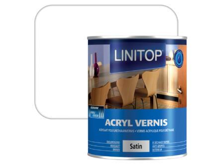 Linitop vernis acryl zijdeglans 0,75l kleurloos