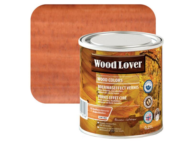 Wood Lover vernis effet ciré 0,25l acajou Brésilien #145