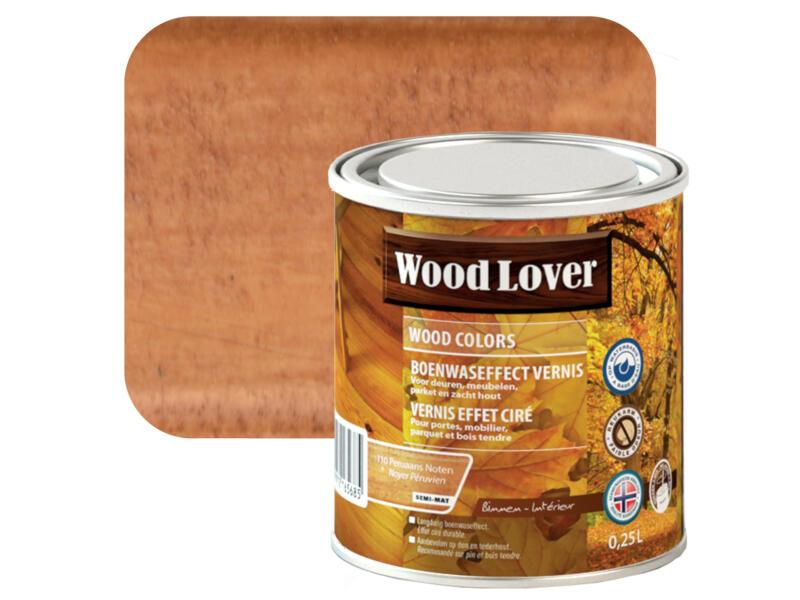 Wood Lover vernis effet ciré 0,25l noyer Péruvien #110